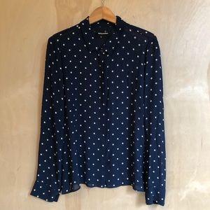 Reformation polka dot blouse - size XL